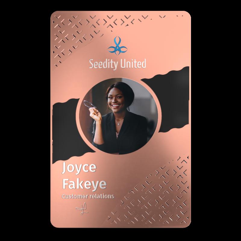 Rose Gold ID Card